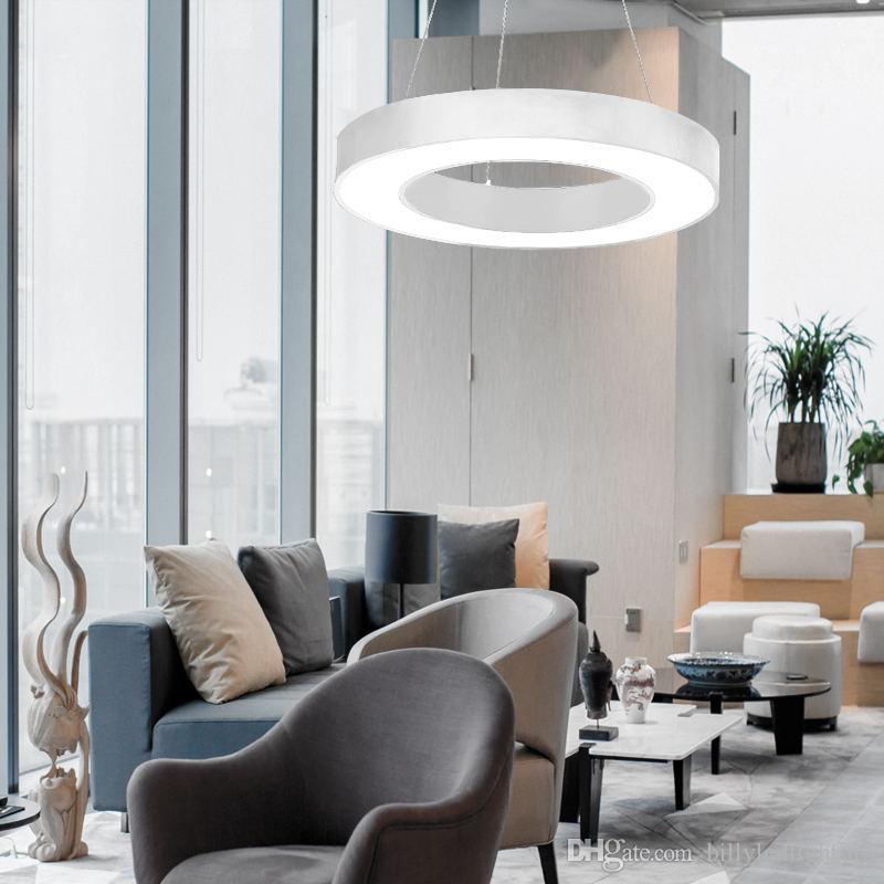 Grosshandel Runde Kreis Suspension Hanglamp Schwarz Weiss Decke