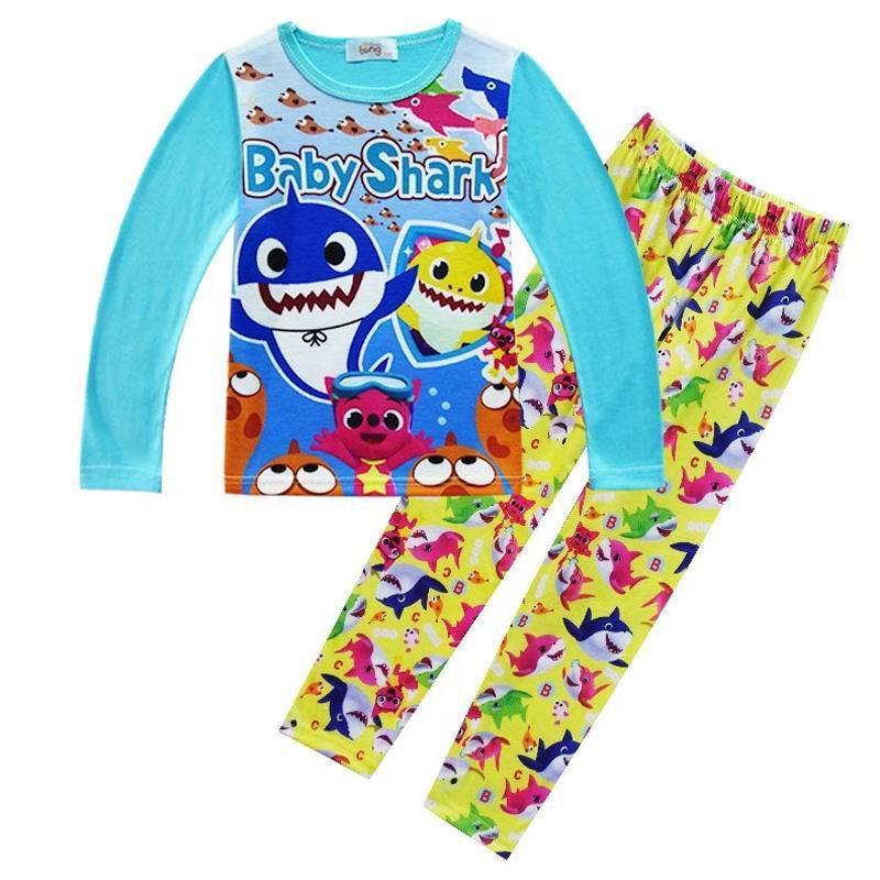 2a8c10d5f9c0 3-9Years Cartoon Shark Infant Pajamas Set Kids Pijamas For Boys Sleepwear  Children's Nightwear Costume Baby Boys Clothes Sets