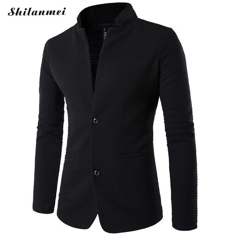 c6fe233fe Blazer Men 5xl Plus Size Mens Blazer Jacket Chinese Collar Patchwoek Trendy  Mens Black Suits Homens Blazers Masculino Slim Fit