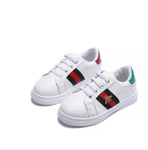 T666 Beste verkaufende neue Art und Weise des Frühlingssommerherbstes wenig weiße weiße Schuhe der Jungenmode-Artkinder 26-36cm