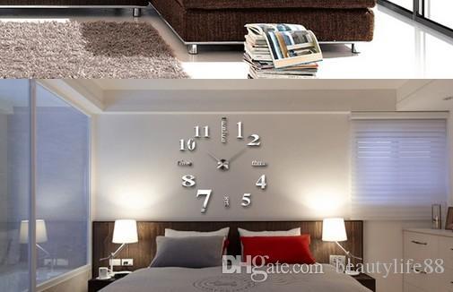 كبيرة الحجم المعادن الملمس diy ساعة الحائط النمط الأوروبي غرفة المعيشة الأزياء الفن كتم شخصية ساعة الإبداعية ساعة