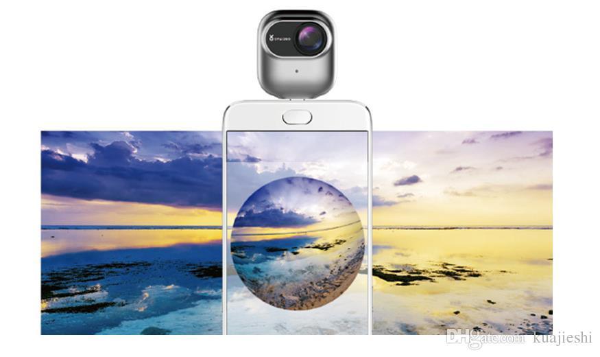 360 degree panoramic camera 4K HD dual lens outdoor live broadcast 720 mobile 3D camera .DV special purpose sport camera.