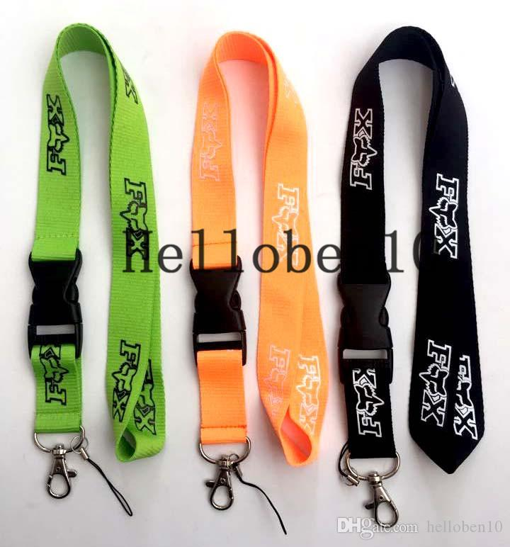 Foxl fashion brand Lanyard ID Badge Key Holder chain Neck Strap Detachable there are three colors to choose from
