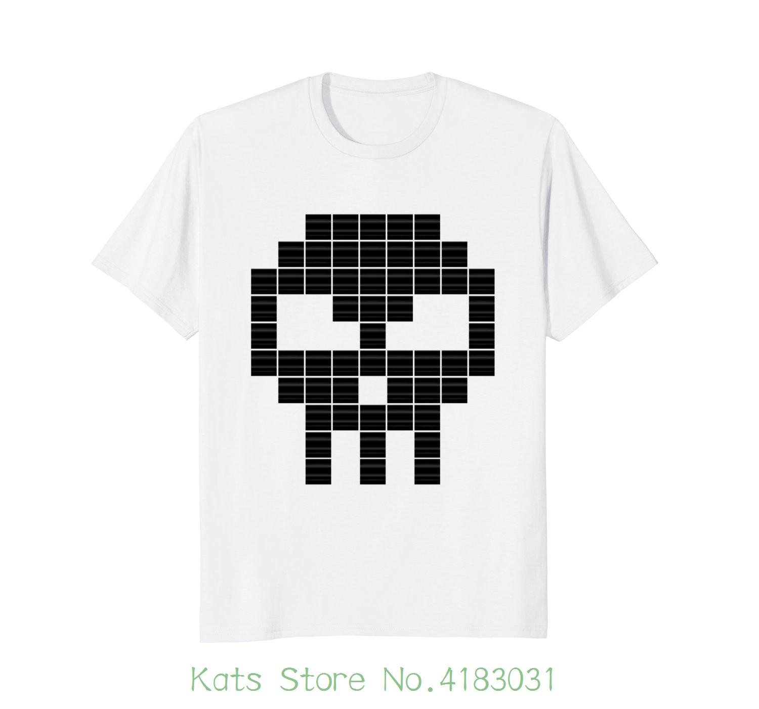2d70f3ce8 Gamer Shirt Pixel Skull Loose Cotton T Shirts For Men Cool Tops T Shirts  Funny Tee T Shirt Buy From Katsstore, $24.2| DHgate.Com