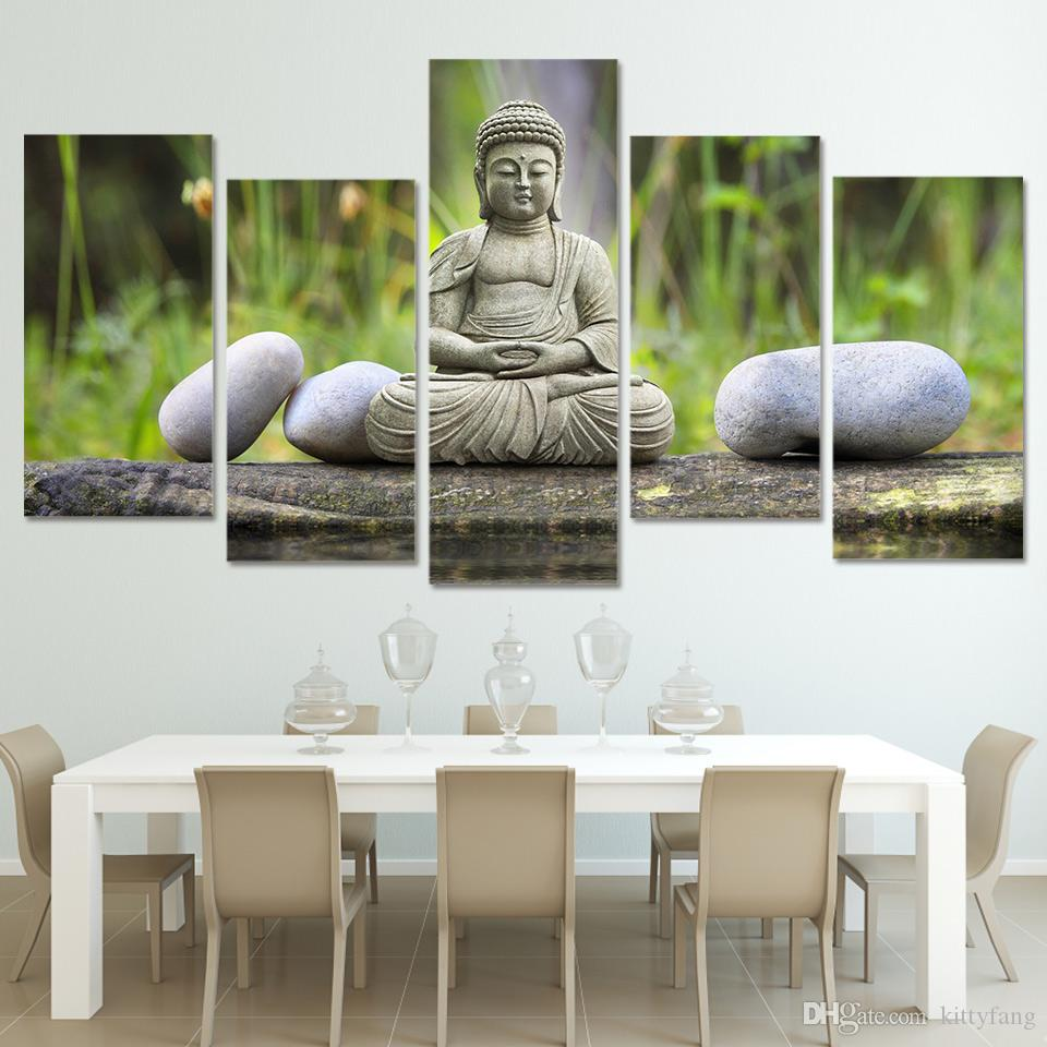 The figure of Buddha HD Printed Wall Art Pictures Canvas Paintings For Living Room Home Decor