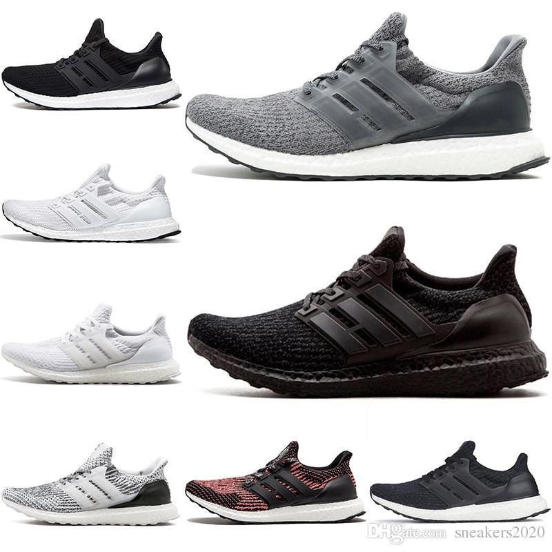 online store 4be89 2f14a Cheap Ultra 3.0 4.0 Running Shoes UB Triple Black White Oreo CNY Grey Men  Women Sport Sneaker Size 36-45 Free Shipping