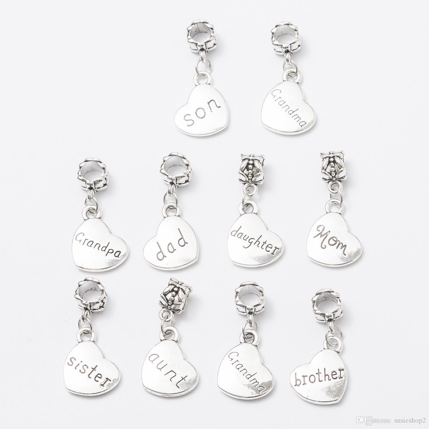 Family word heart shape charms pendants dangles beads fit pandora family word heart shape charms pendants dangles beads fit pandora bracelet or bangle diy jewelry heart charms pandora charms pandora pendant online with aloadofball Gallery