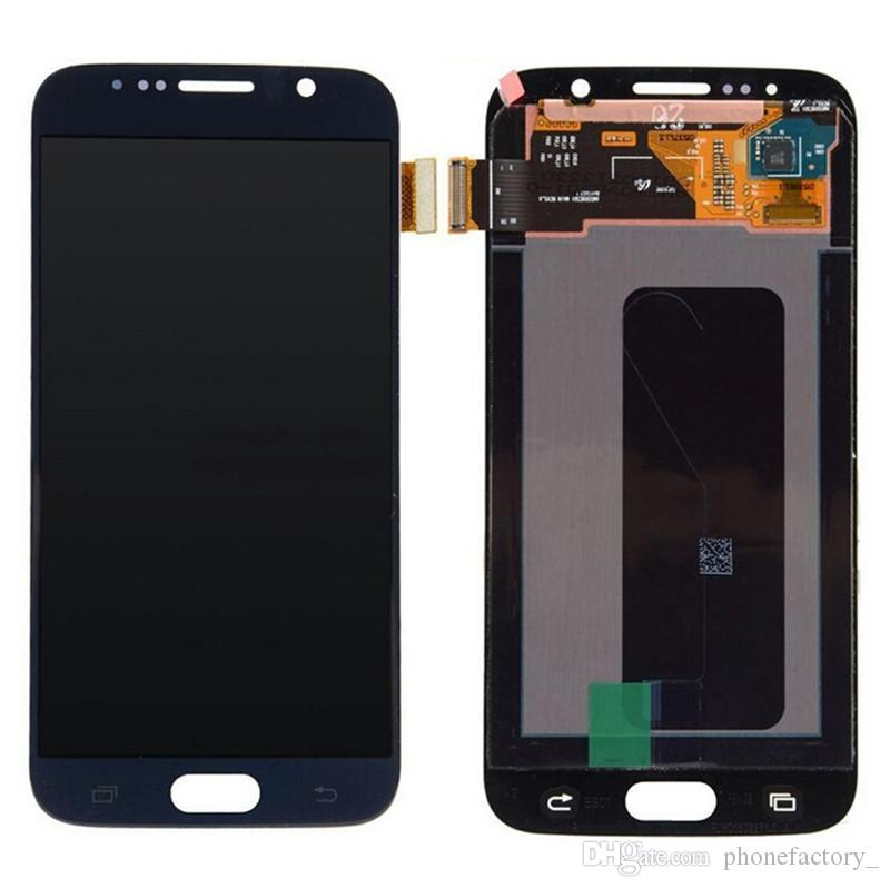 100% Original 5.1inch Super AMOLED Display lcd for S6 Samsung Galaxy with FrameAssembly Digitizer lcd for Samsung LCD g920f g920 g920a
