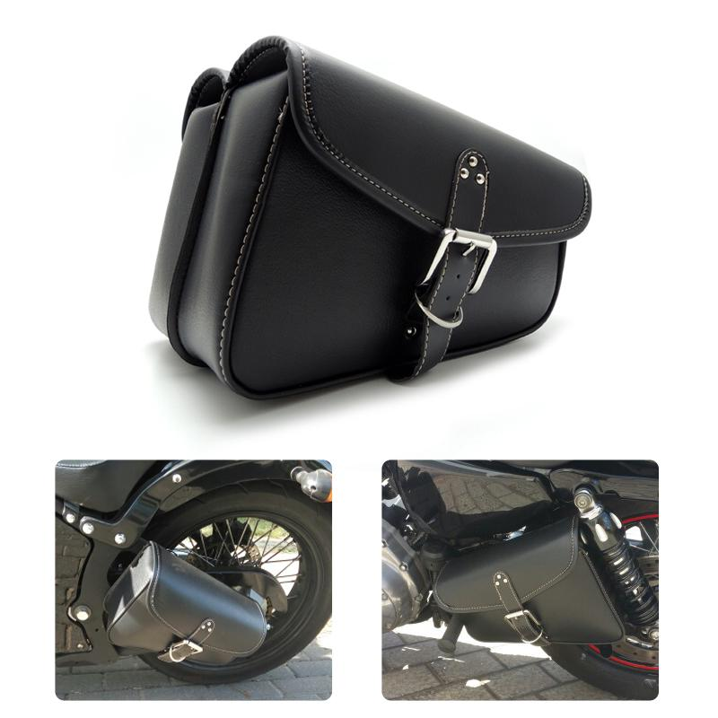 29203015b3e5 Motorbike Saddlebags PU Leather Swingarm Bag Saddle Bags Side Tool Bags  Storage For Harley Sportster Motorcycle Hard Cases Motorcycle Hard Panniers  From ...
