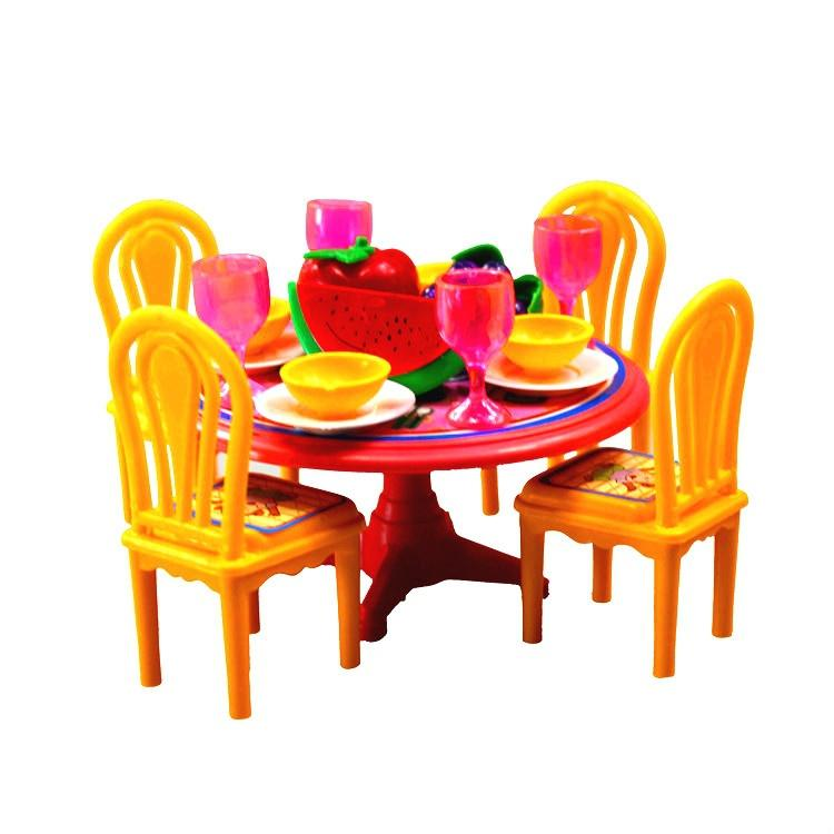 2018 Creative Girls Barbie Kitchen Toys Role Play Tableware Plastic Dining  Table Model Kids Novelty Gift Set From Gillehuang, $44.88 | Dhgate.Com