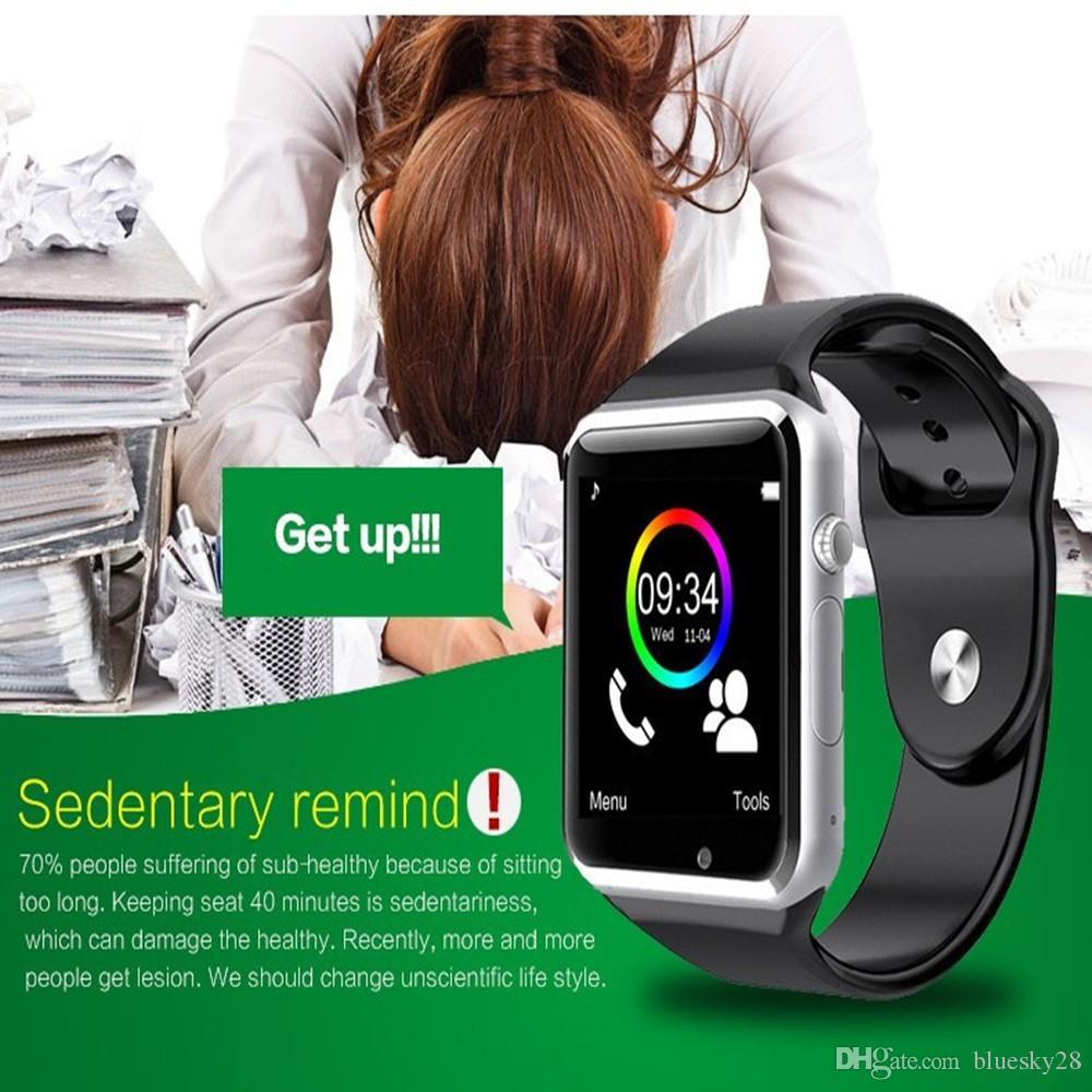 A1 Bluetooth Smart Watch с Passometer камеры SIM-карты вызова взрослых Smartwatch для Xiaomi Android телефон