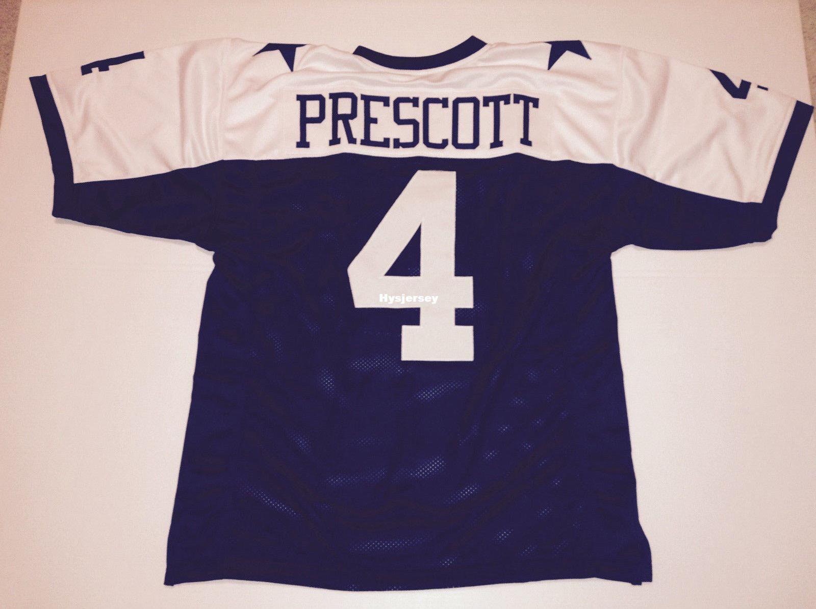 2019 Cheap Retro Custom Sewn Stitched 4 Dak Prescott MITCHELL   NESS Jersey  High End Men S Football Jerseys From Hysjersey 0b97e723b