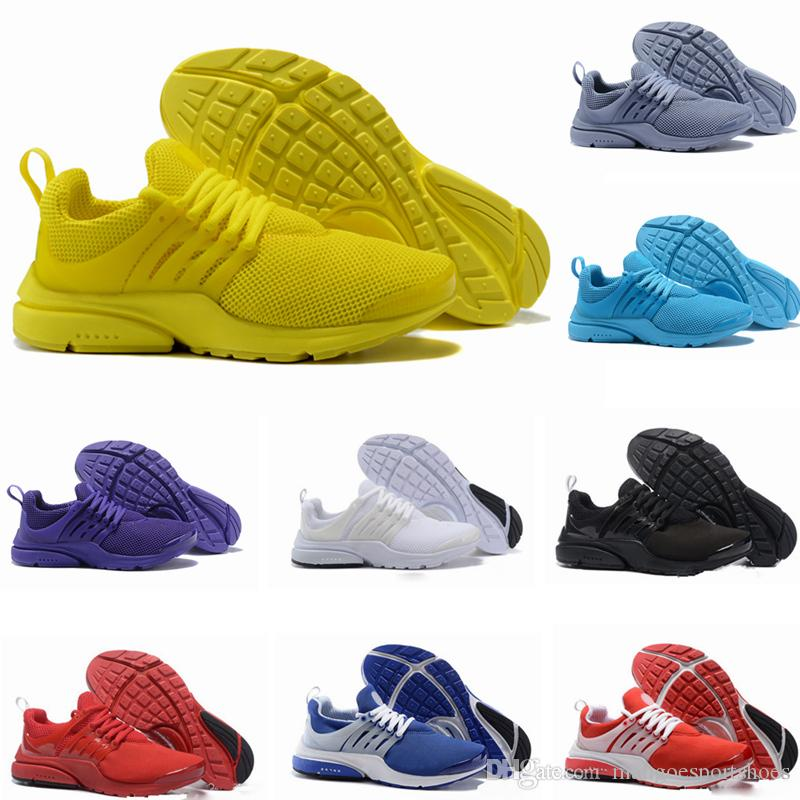 2018 New PRESTO BR QS Breathe Yellow Black White prestos Shoes for Women Shoes,Walking designer shoes