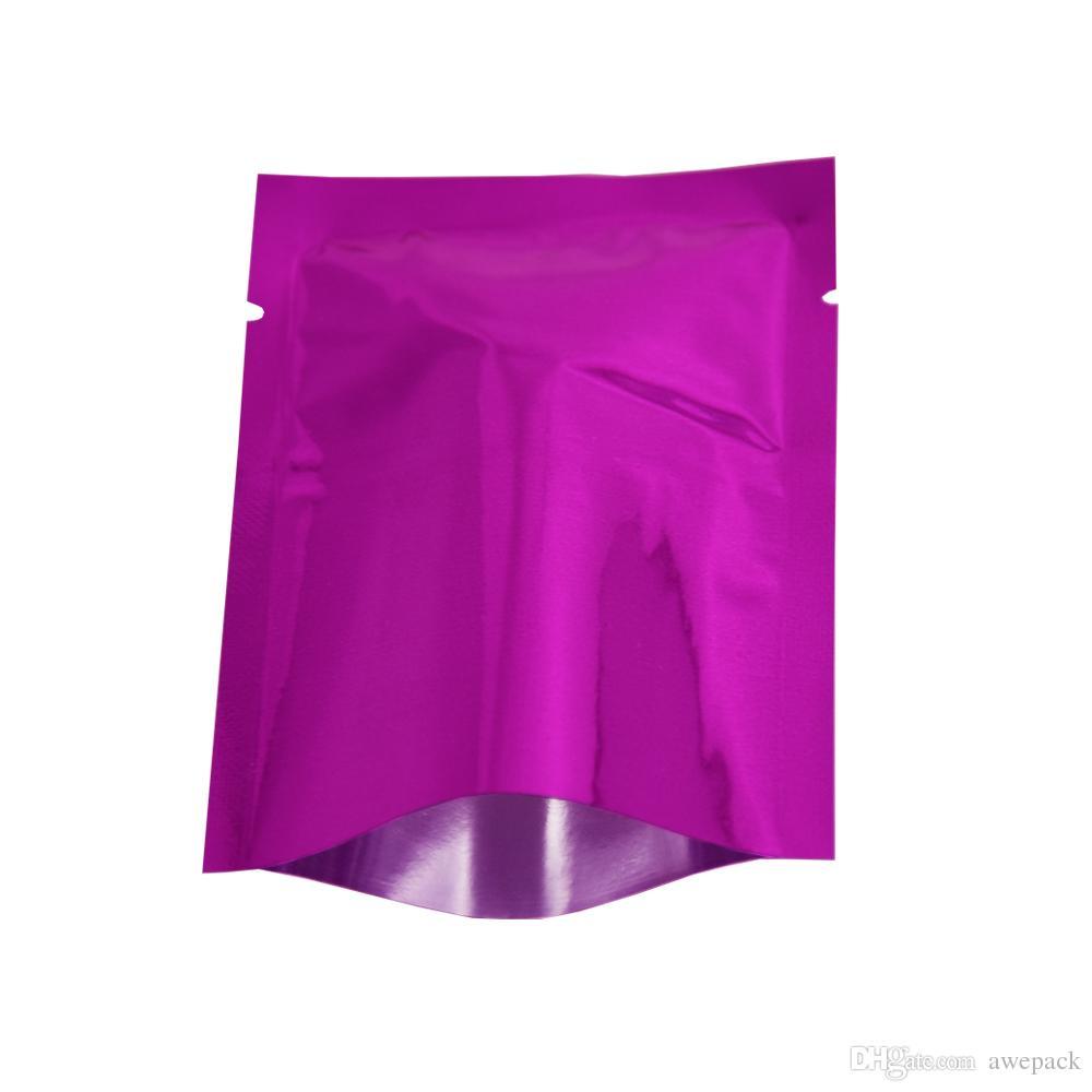 100 pezzi lotto 10 * 15 cm calore lucido saldabile foglio di alluminio aperto top sacchetto di imballaggio alimenti secchi frutta caramelle sottovuoto sacchetti di mylar