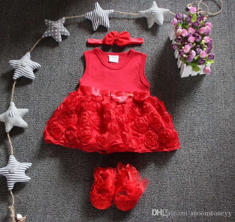 eed029de665ee 2019 New Born Baby Girls Infant Dress&Clothes Summer Kids Party Birthday  Outfits 1 2years Shoes Set Christening Gown Baby Jurk Zomer From  Moonstoneyy, ...
