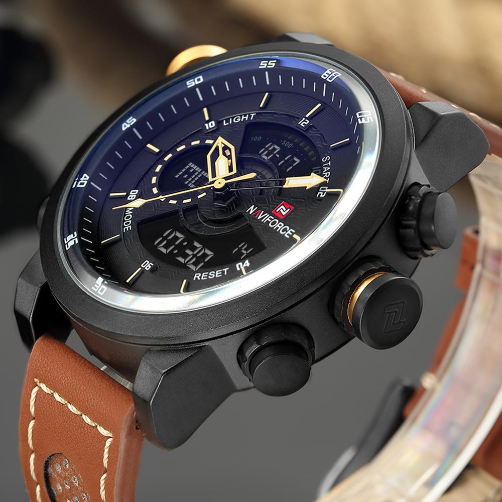 813c315e8fd Compre NAVIFORCE Relógio Dos Homens Marca Esporte Militar Do Exército Masculino  Relógio Moda Relógio De Pulso 12 24 H Relógios Ao Ar Livre À Prova D  Água  ...