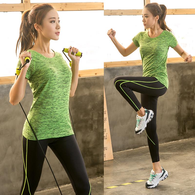 66a9ad1ce91ff3 Plus Size Pro Fitness Set Leggings Top Workout Clothing Workout Gym Sport  Run Girl Slim Yoga Exercise Tight Bodybuilding3xl 4xl