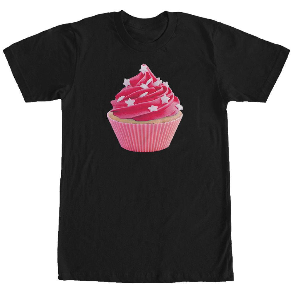 Lost Gods Star Sprinkle Cupcake Mens Graphic T Shirt Mens 2018 fashion Brand T Shirt O-Neck 100%cotton T-Shirt Tops Tee