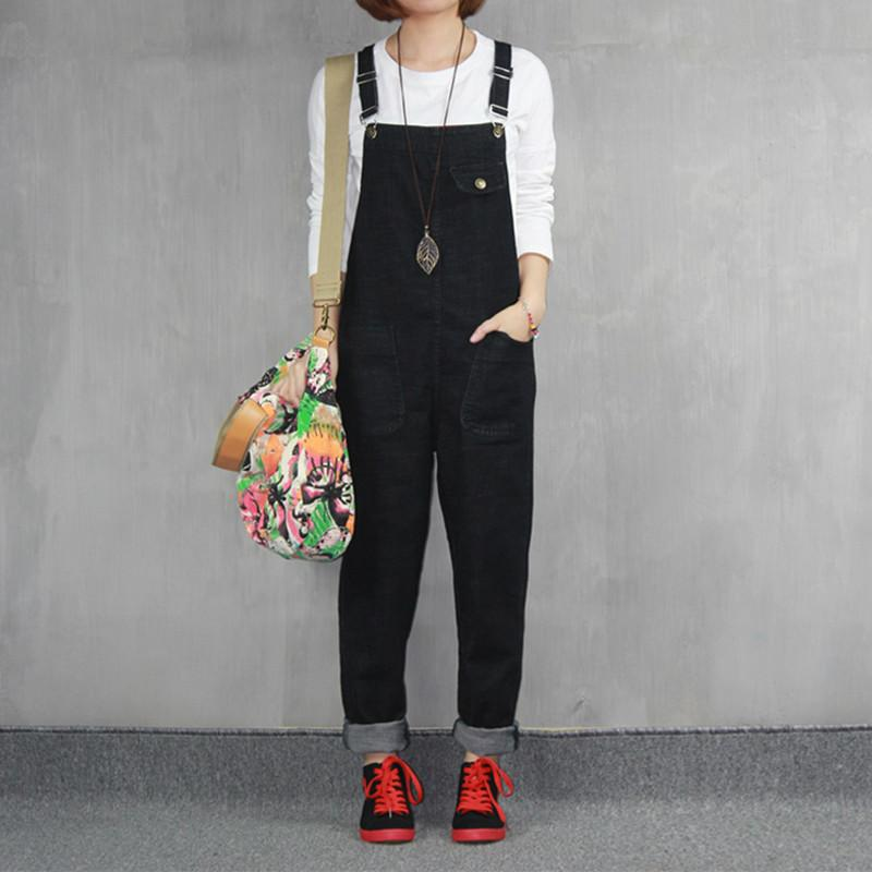 2017 Jeans Fashion Loose Plus Size S-6XL Pants For Women High Quality Overalls Jumpsuit And Rompers Denim Trousers