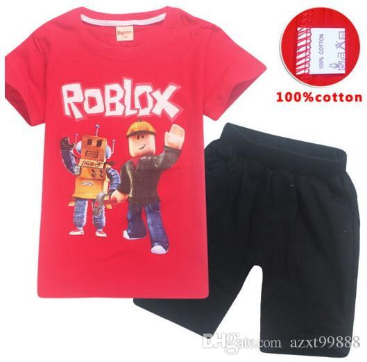 d6521d782f48 5-14y 2018 Summer ROBLOX Cotton Children Clothing Sets Baby Girls ...