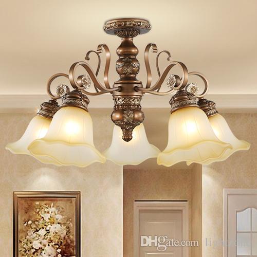 Elegante Led De Fancy Luz Colgantes Europea Iluminación Lámparas Royal Bombillas Con Colgante Resina Clásico Americano Lujoso pVqMUzS