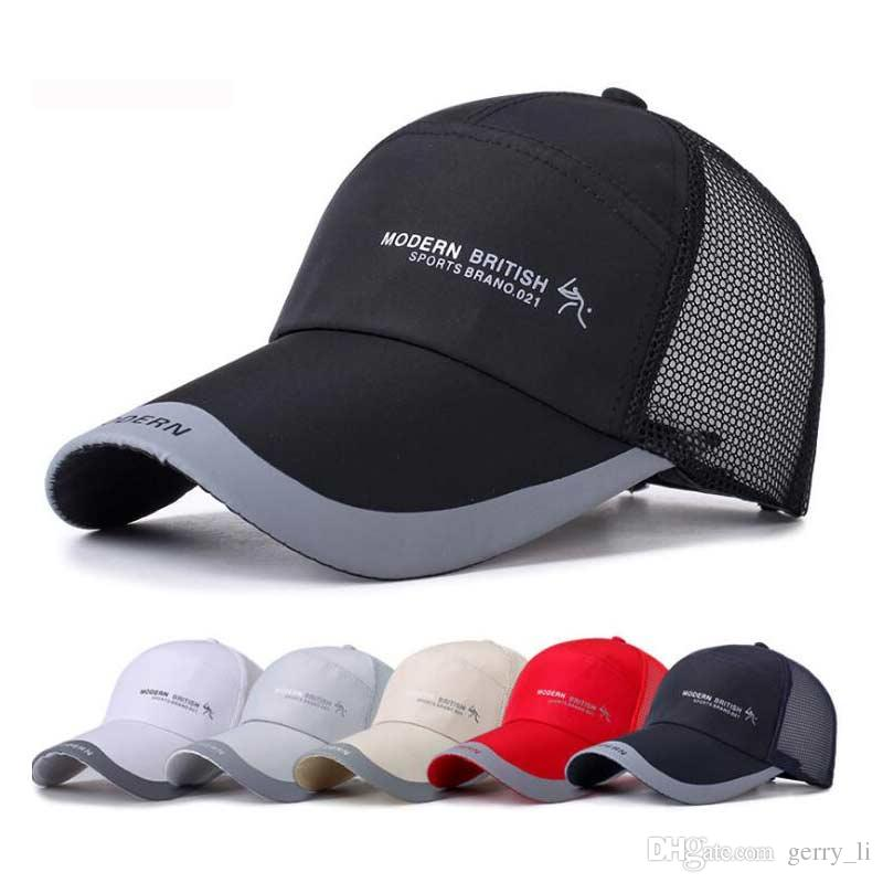 98a0f056fb5 Unsiex Fashion Mesh Baseball Cap Chapeau Quick Dry Men Adjustable ...