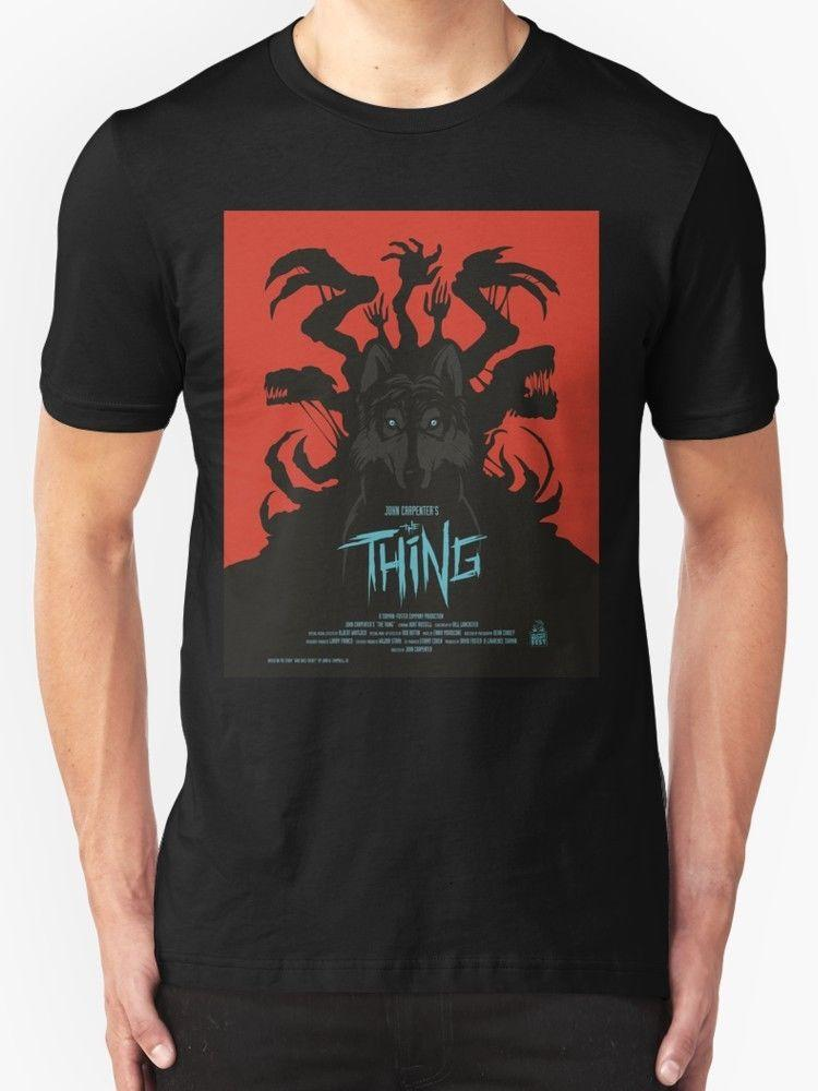 New The Thing Classic Retro Poster Men's T-Shirt Size S - 2XL Homme High Quality T Shirt 100% Cotton