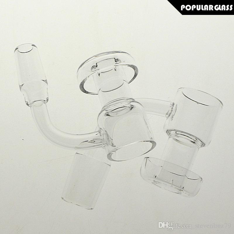 SAML 30mm Quartz Terp Vacuum Banger Domeless Terp Slurper Up Oil Nail Male Joint Size 14mm and 18mm 90 degrees PG5146