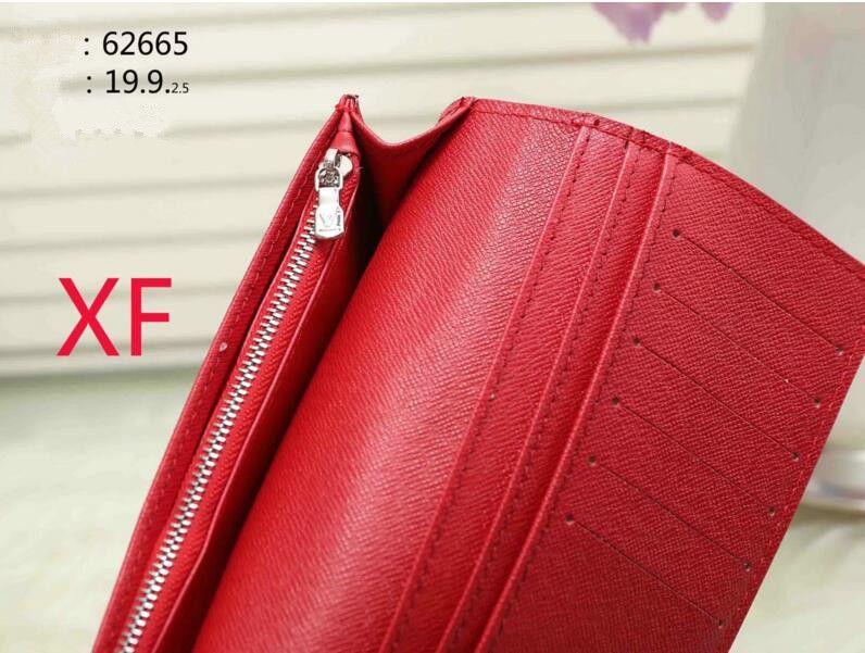 2018 Fashion Men Womens Genuine Leather Purses marca famosa Brevi portafogli stampa portafoglio modello animale 60017