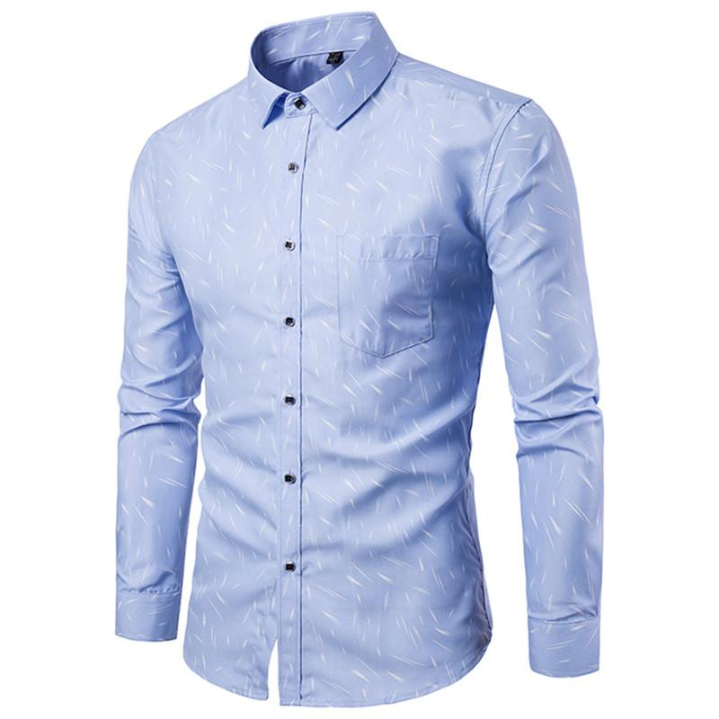31ea3809112 2019 Light Blue Business Casual Blouse Fashion Meteor Print Boy Blusa Tide  Boys Club Shirt Korean Style Spring Big Size 5XL Men Tops From  Fashion 3dcloset