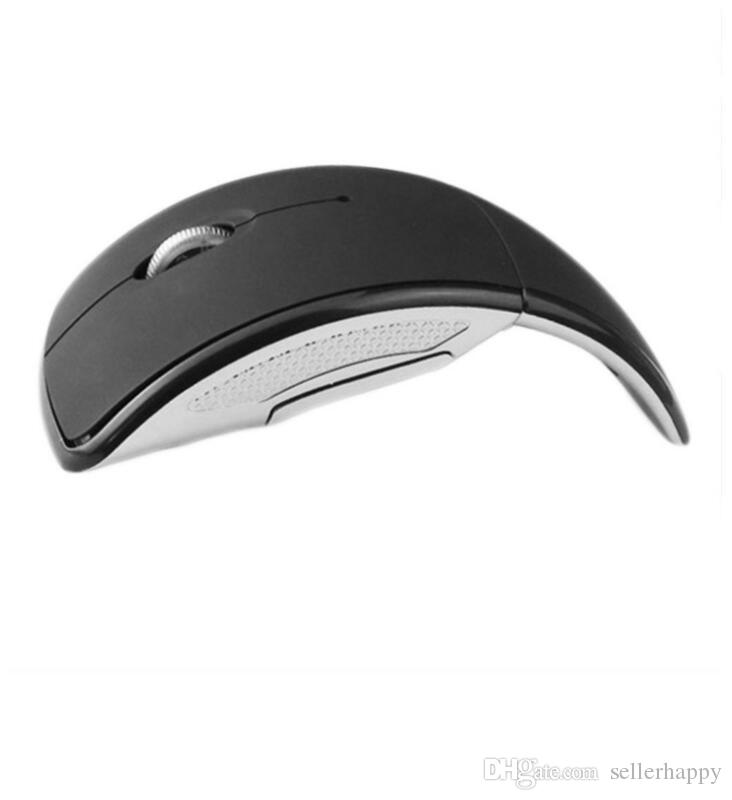 High Quality Foldable Folding 2.4G 3 Buttons Wireless Touch Optical Mouse Mice ARC Shaped Moon Style USB