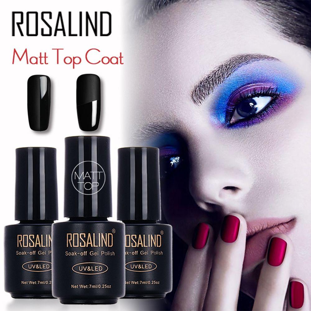 Rosalind Cover Oil Ramatt 7ml Matt Top Coat Gel Nail Polish Nail Art ...