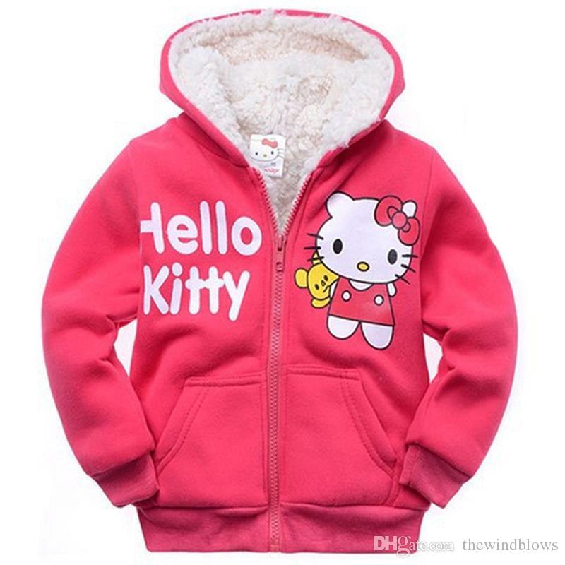 0ca363acafeb Baby Girls Cartoon Hello Kitty Winter Fur Coat