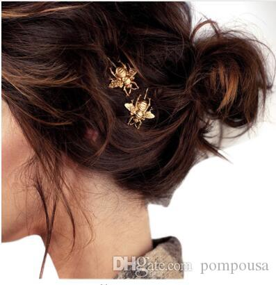 Wholesale Women s Fashion Style Hair Pins Girl Exquisite Gold Bee ... dc50f7232feb