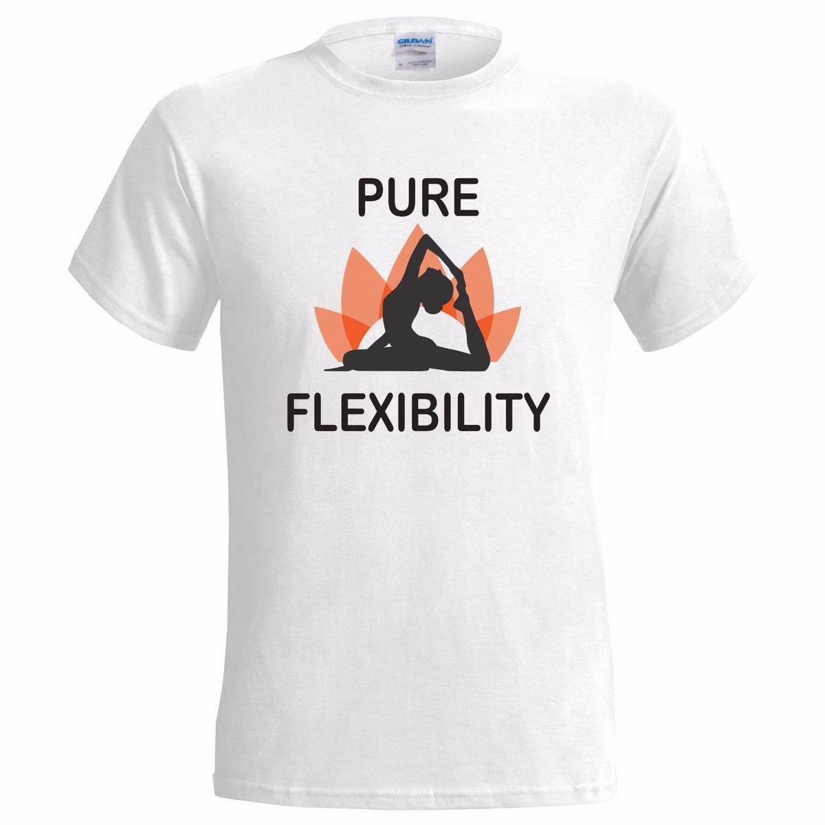 PURE FLEXIBILITY YOGA DESIGN MENS T SHIRT LOTUS FLEXIBLE ART HEALTH HEALTHY GIFT