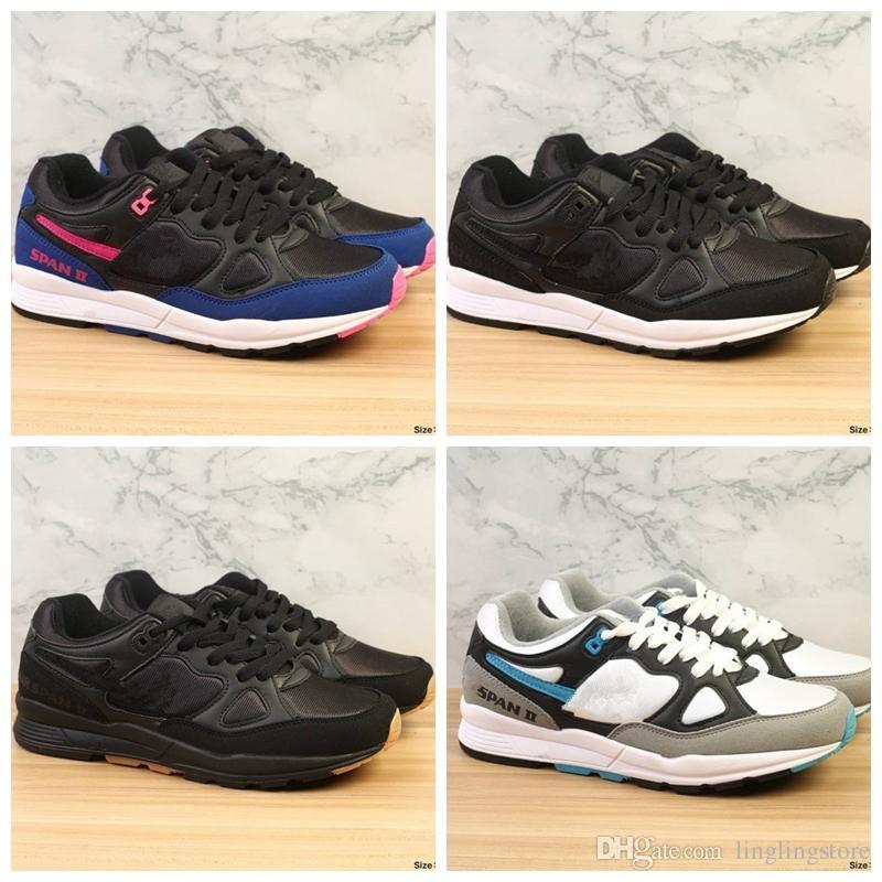 newest collection 9f4d0 2f40e Acheter Nike Air Span II 2018 Vente Chaude Span II 90 Hommes Chaussures De  Course Pour Air Zoom Bonne Qualité Blanc Vert Bleu Hommes Femmes Jogging  Sneakers ...