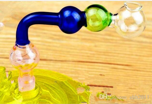 Right Angle Three Color Ball Pot ,Wholesale Bongs Oil Burner Pipes Water Pipes Glass Pipe Oil Rigs Smoking