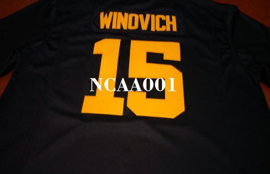 buy popular f07a4 13ccb Youth #15 Chase Winovich Michigan Wolverines Alumni College Jersey S-4XLor  custom any name or number jersey