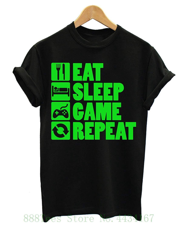 b11a8d79d Eat Sleep Game Repeat Gamer T Shirt Newest 2018 Fashion Stranger Things T  Shirt Men T Shirts Designer Funny Tee Shirt From Jie43, $14.67  DHgate.Com
