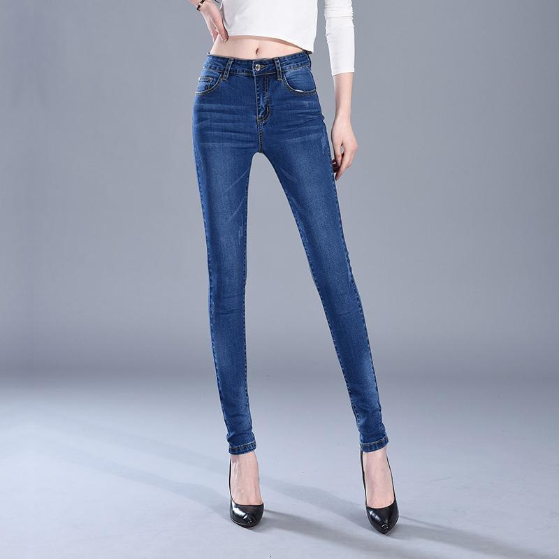 6a31ff652043 2018 Neue Mode Jeans Frauen Zeichnen Hosen Hohe Taille Jeans Sexy Dünne  Elastische Dünne Hosen Hosen Fit Lady Plus Größe