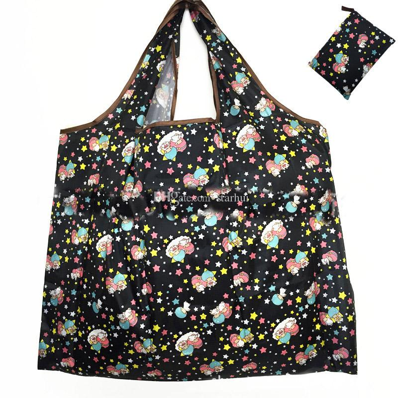 Waterproof Nylon Foldable Shopping Bags Reusable Storage Bag Eco Friendly Shopping Bags Tote Bags Large Capacity WX9-203