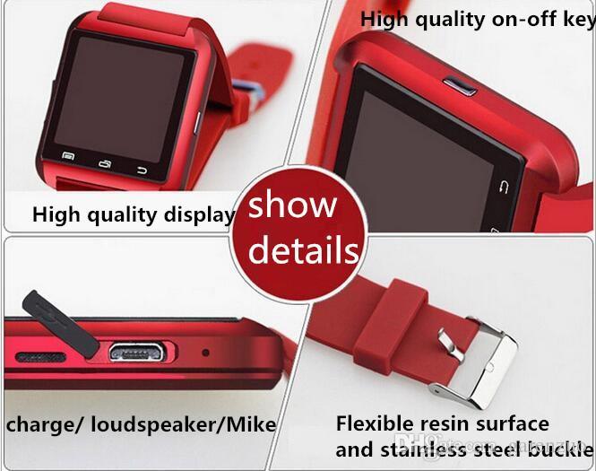 U8 Bluetooth Smart Watch Altitude Meter Smartwatch Support Android Phone Remote Control Photography 1.44 Inch Burglar Alarm