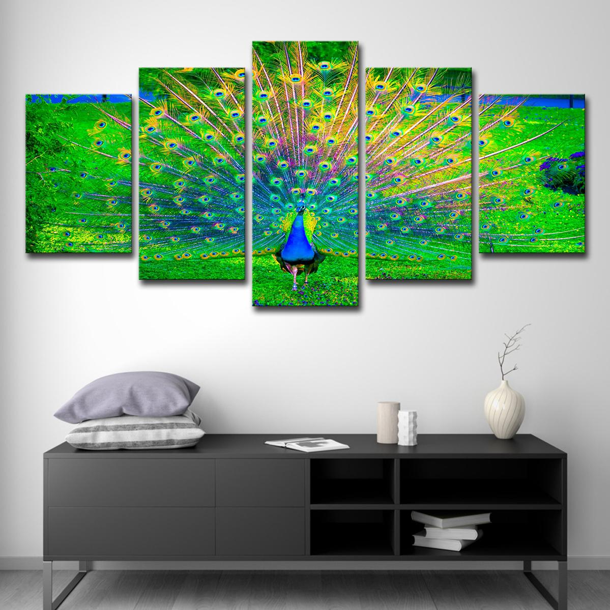 2019 modern home wall art decor frame canvas pictures hd printed peacock open green screen paintings animal posters from xmqh2017 18 49 dhgate com
