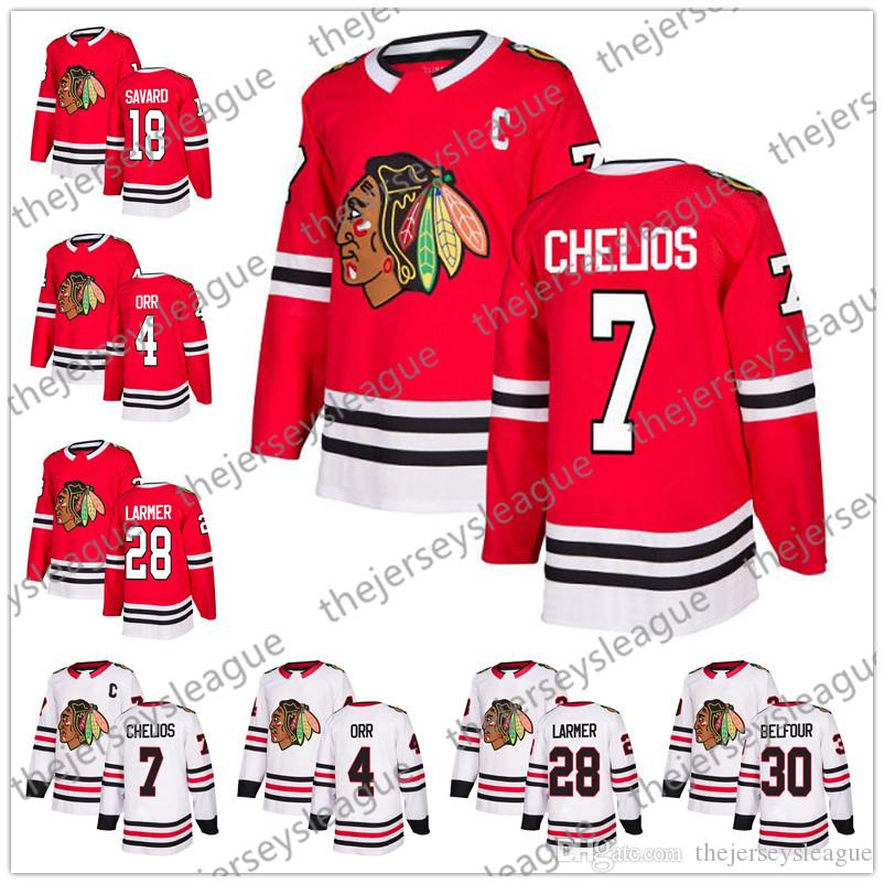 ... hockey jersey red chicago blackhawks 039 8106a bd3d7  get chicago  blackhawks 2018 new brand 7 chris chelios 18 denis savard 28 steve larmer 30 82358c90d