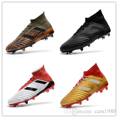 10f2f3b7e 2019 2018 New Predator 18+ 18.1 FG Soccer Cleats Chaussures De Football  Boots Mens High Top Soccer Shoes Predator 18 Cheap New Hot Size 39 45 From  Cam1989