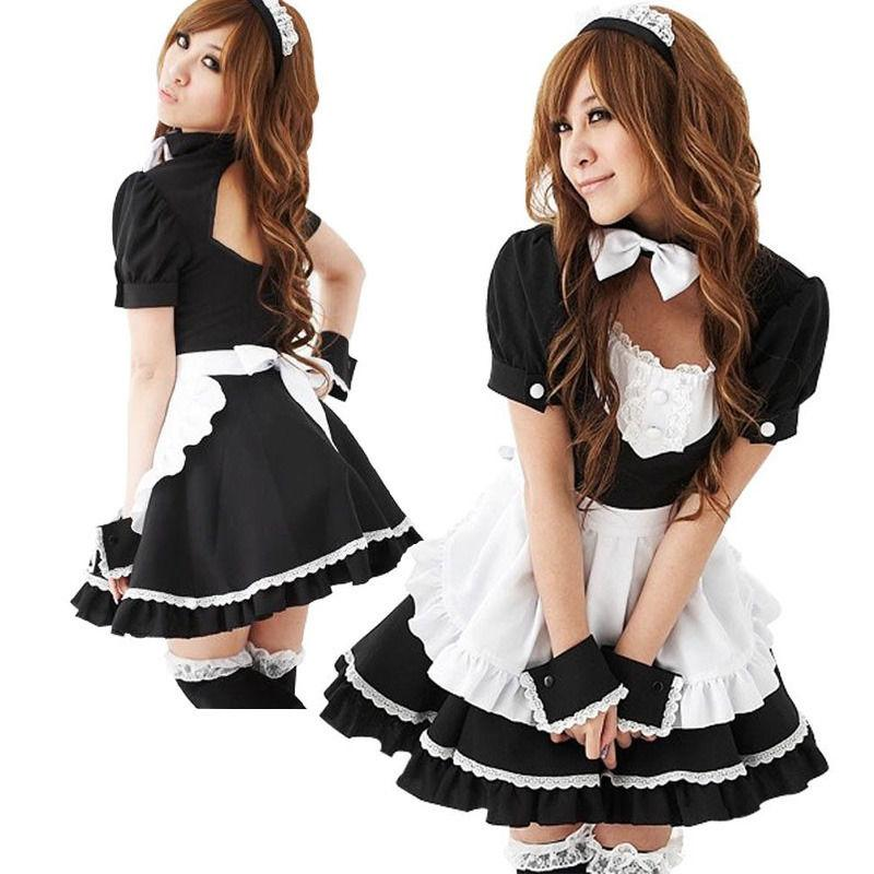 0ef9b0429a11 New Sexy Lolita French Maid Cosplay Costume Dress Halloween Girl Halloween  Costume Halloween Costume Party From Odeletta, $23.75| DHgate.Com