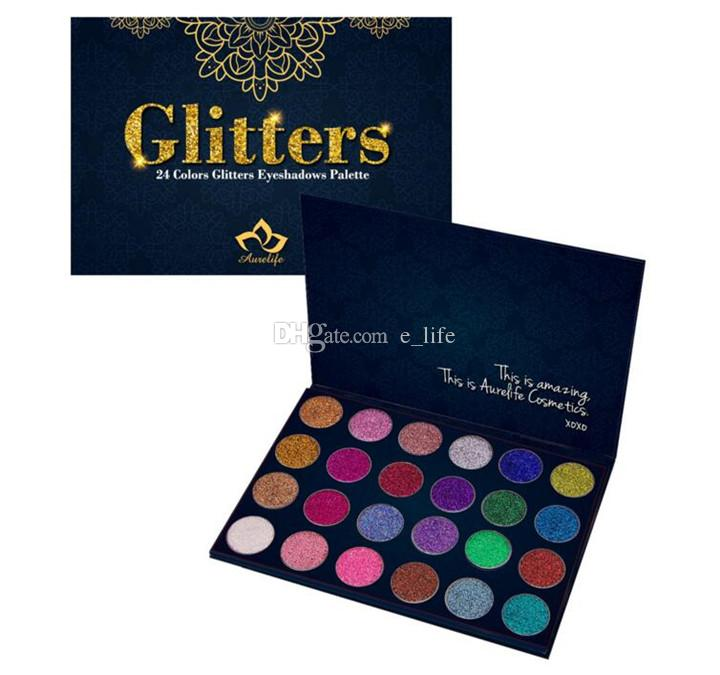 New Arrival Aurelife Glitters Pressed Powder Eye Shadow Palette Matte & Shimmer Eye Shadow Palette Heat Eyeshadow