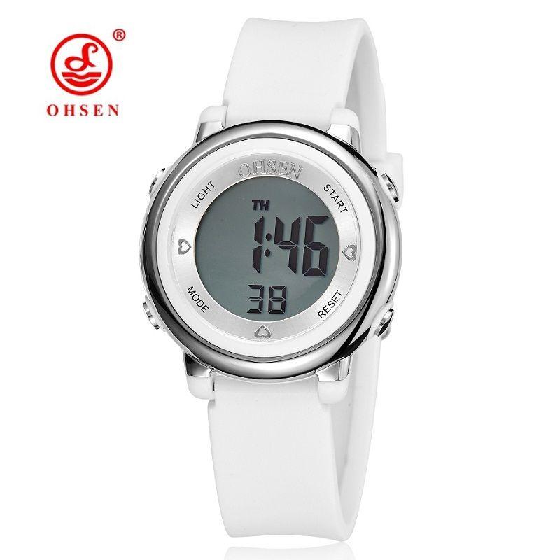Watches Ohsen Jelly Candy Watch Clock Woman Waterproof 50m Outdoor Digital Sports Watch Women Simple Small Bracelet Hand Wrist Hour Gift
