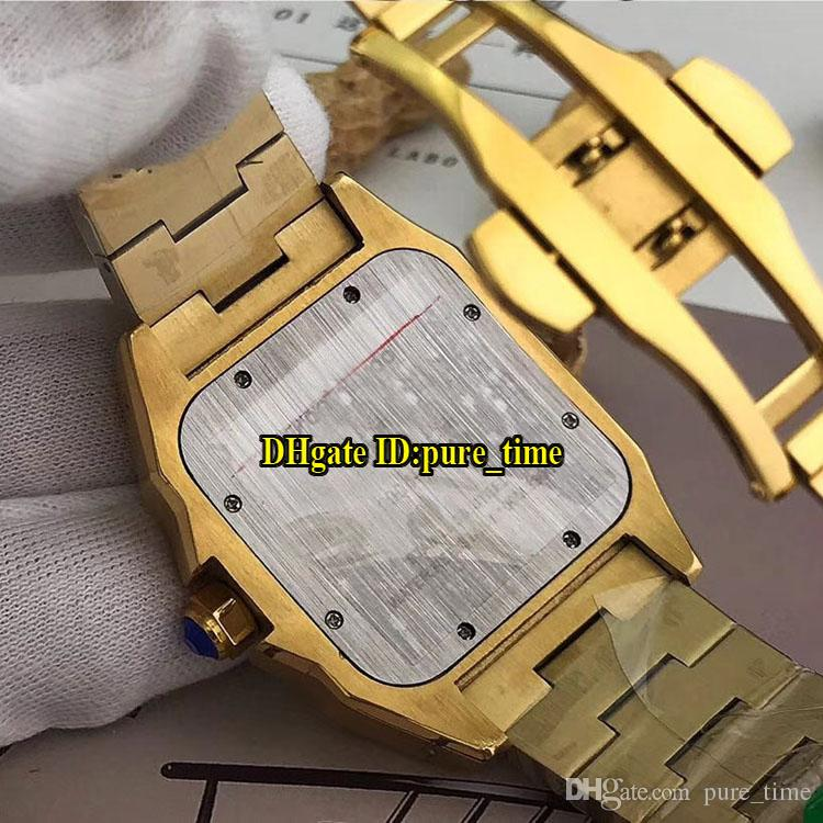 Brand Luxury Galbee XL W20099C4 White Dial Swiss Quartz Mens Watch Two Tone 18k Gold Case 316L Steel Band Cheap New Gents AAA Wristwatches