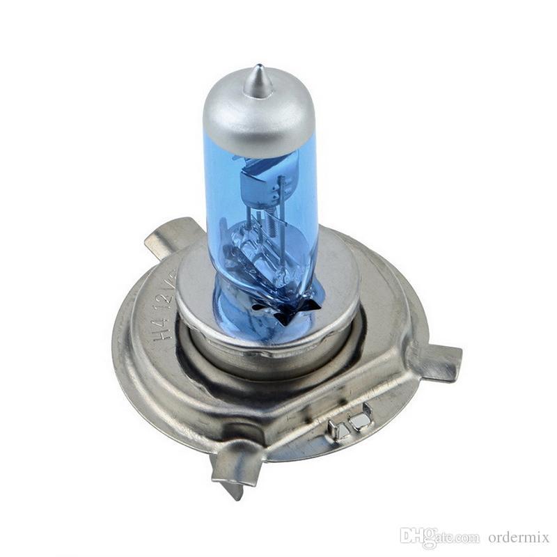 /L 12V 90/100W H4 Halogen Lamp 5000k Car Halogen Bulb Xenon Dark Blue Glass Super White car light source parking
